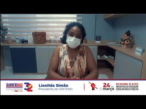 Lionilda Simão, presidente do Sintero, convoca trabalhadores para o Dia Nacional em Defesa da Educação