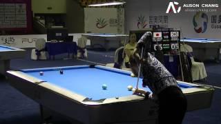 2014 Women 9-Ball WC - Akimi Kajitani V Yu Ram Cha車由蘭