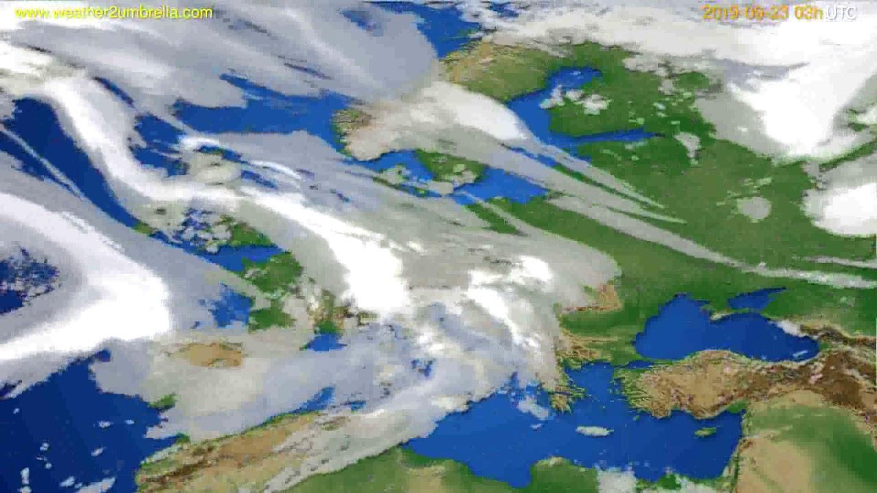 Cloud forecast Europe // modelrun: 00h UTC 2019-09-20
