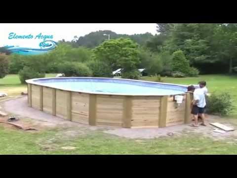Montaggio piscina fuori terra in legno