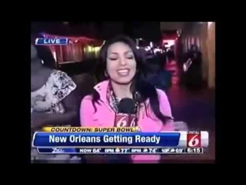 Reporter Jessica Sanchez owns drunk videobomber on Bourbon St