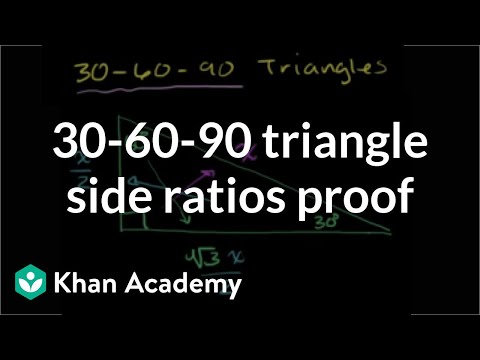 Special Right Triangles Proof Part 1 Video Khan Academy
