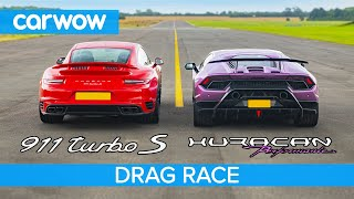 Video Lamborghini Huracan Performante v Porsche 911 Turbo S - DRAG RACE, ROLLING RACE & BRAKE TEST MP3, 3GP, MP4, WEBM, AVI, FLV Agustus 2019