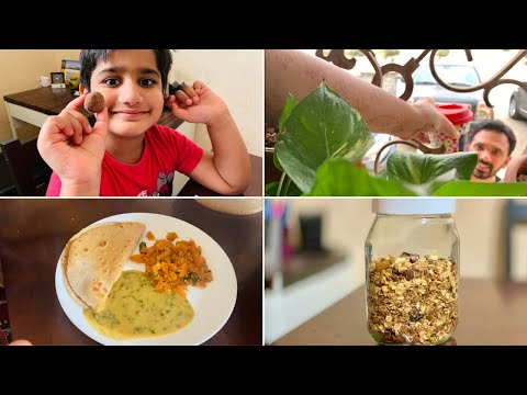 A Healthy Routine I Follow| Homemade Stove-top Granola| Kids Protein Balls