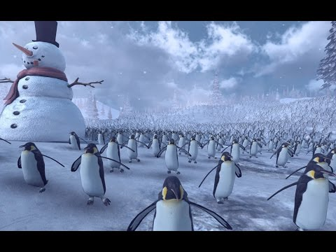 Epic Battle Simulator 11 000 Penguins vs 4 000 Santa