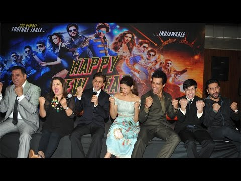 ShahRukh,Deepika, Sonu,Vivaan and Boman  At Launch Of New Song SharabiFrom Film HappyNewYear