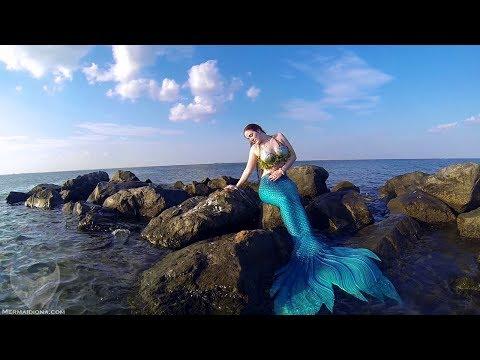 Mermaid on Ocean Rocks
