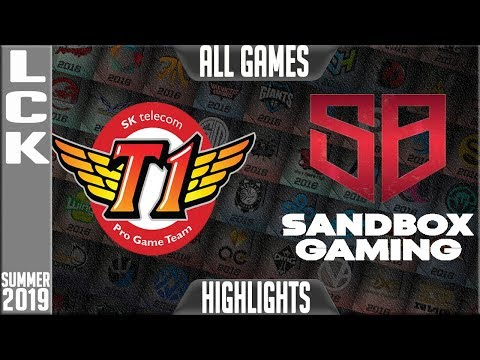 SKT Vs SB Highlights ALL GAMES | LCK Summer 2019 Week 2 Day 4 | SK Telecom T1 Vs Sandbox Gaming