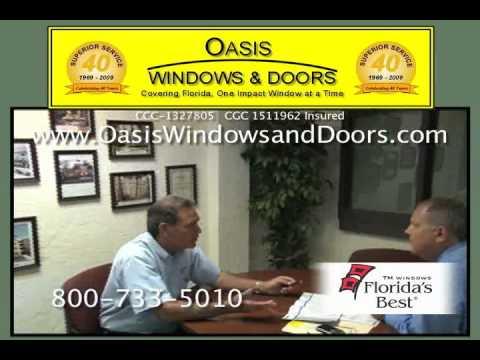 Lifetime No-Leak Warranty on Florida's Best TM Window's Impact Windows & Doors