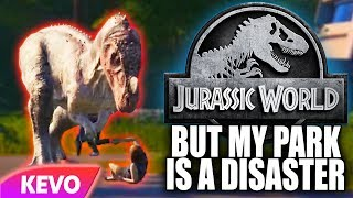 Jurassic World Evolution but my park is a disaster