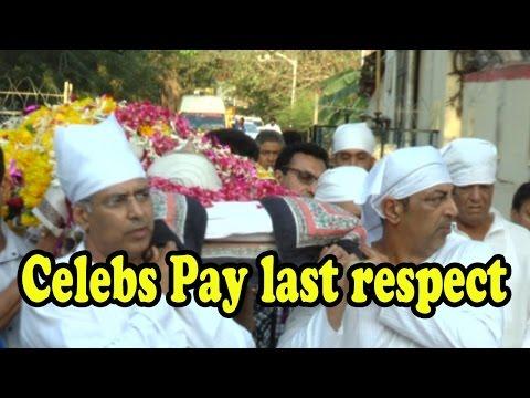 Celebs Pay Last Respect At Vindu Dara Singh's Moth