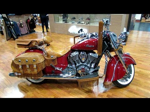 2014 Indian Chief Vintage Red with Accessoires Walkaround - 2013 NY Moto Show