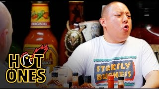 Video Eddie Huang Gets Destroyed by Spicy Wings | Hot Ones MP3, 3GP, MP4, WEBM, AVI, FLV November 2018
