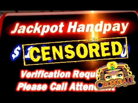 **JACKPOT HANDPAY** CLEOPATRA 2 HIGH LIMIT SLOT MACHINE BONUSES