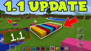 Minecraft Pocket Edition 1.1 Update NEW BLOCKS DOWNLOAD! NEW MCPE COLORS Gameplay PREVIEW (MCPE 1.1)