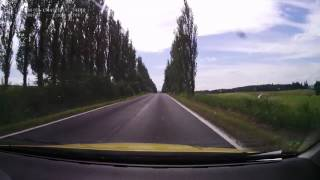 Driving on czech road II/198 from 0 km (Bochov, road I/6) to 14 km (Toužim, road I/20). Speed: 1x.