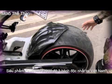 Siêu phẩm Kawasaki Z1000 độ 3 bánh độc nhất tại Việt Nam