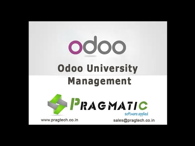 Odoo OpenERP 8 University Management