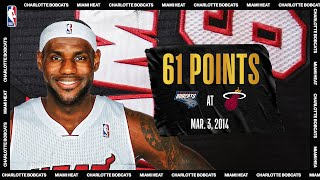 LeBron scores career-high & Miami Heat record 61 PTS vs Charlotte | March 3, 2014 | #NBATogetherLive by NBA