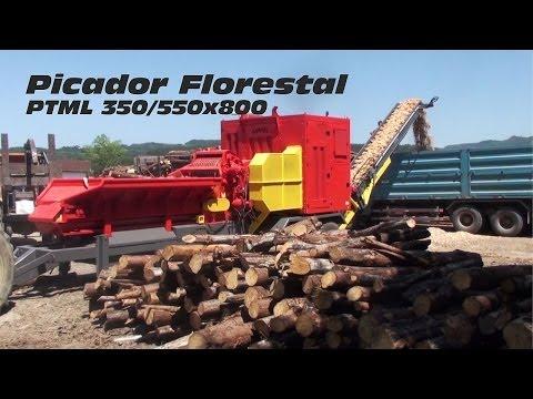 Picador Florestal de Alta Produção PTML 350/550x800 - fabricação de cavacos em grande escala