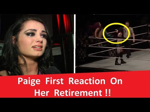 Paige First Reaction Her Retirement !!