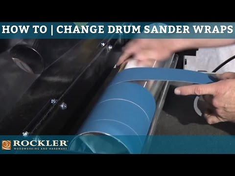 How to Change Abrasive Wraps on a Drum Sander