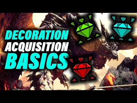 BASIC TIPS ON HOW TO GET DECORATIONS - Monster Hunter World