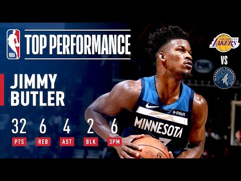 Video: Jimmy Butler Pours In 32 Points In A Clutch Performance Against The Lakers | October 29, 2018
