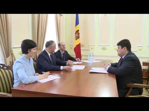 Președintele țării a avut o întrevedere cu Ambasadorul Republicii Belarus în Republica Moldova, Serghei Ciciuc