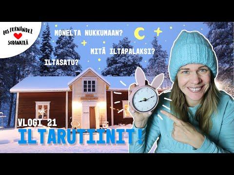 ILTARUTIINIT LAPISSA #vaihtovuosisodankylässä vlogi 21 / Living in Lapland w. engli… видео