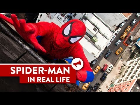 ZOMG!  It's REAL LIFE Spiderman.