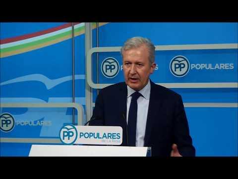 Emilio del Río presenta una iniciativa del PP sobre denominaciones de origen