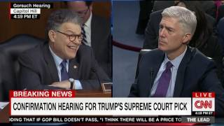 Franken Visibly Frustrated When Gorsuch Doesn't Take Bait on Merrick Garland Question
