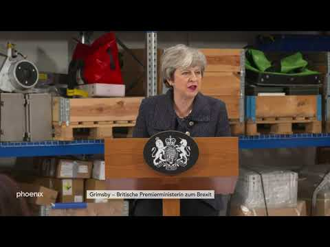 Rede von Theresa May zum Brexit in Grimsby am 08.03.1 ...
