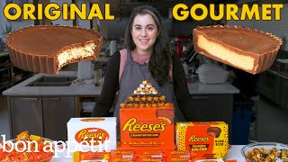 Pastry Chef Attempts to Make Gourmet Reese's Peanut Butter Cups | Gourmet Makes | Bon Appétit