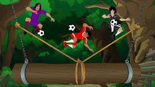 """Shakes must face all his Super League rivals in a mysterious, invite-only soccer tournament on a private island. From booby-trapped jungle gauntlets to a volcano-top soccer pitch, skill, endurance and friendship are tested to the limit. But is """"Soccer Island"""" REALLY just for the greatest soccer players in the world?"""