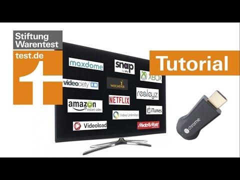 Tutorial: Online-Video auf dem Fernseher nutzen (Test Onlinevideotheken & Google Chromecast)