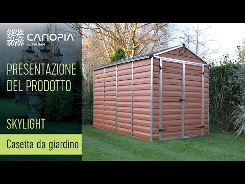 Palram Capannone SkyLight™ Shed (Grigio) - Casetta da Giardino (IT)