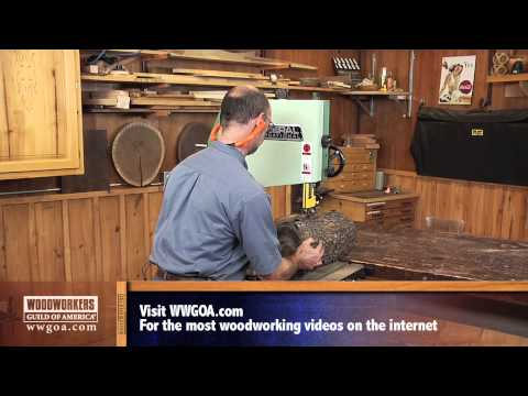 band saw - Watch George Vondriska illustrate the process of using your Band Saw as a Saw Mill. A WoodWorkers Guild of America (WWGOA) original video. For more woodworki...