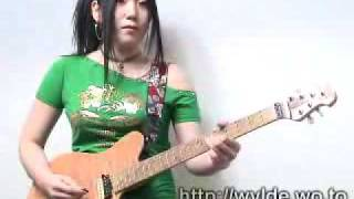 girls on play guitar street fighter guile stage-toriyama you