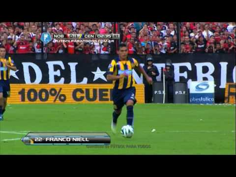 Gol Niell. Newell's 0 - Central 1. Final 2014. Fecha 12. Fútbol Para Todos.