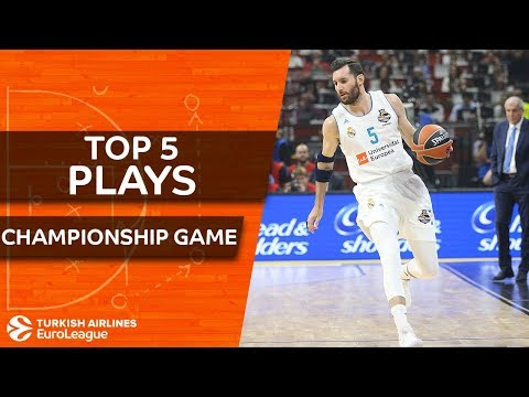 Top 5 Plays  - Turkish Airlines EuroLeague Championship Game (видео)