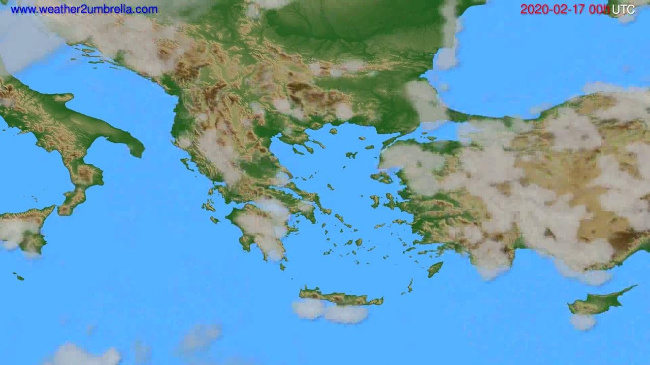 Cloud forecast Greece // modelrun: 00h UTC 2020-02-16