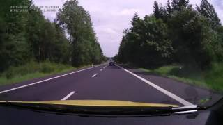 Driving on czech road I/6 from 81 km (exit Karlovy Vary-Bohatice, road I/13) to 63 km (Bochov, road II/198). Speed: 4x.