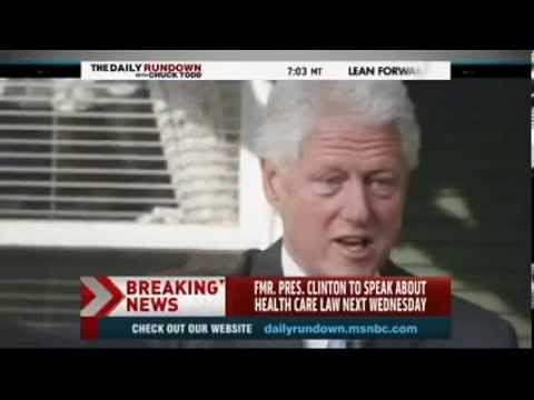 Barack Obama Taps Bill Clinton to Make Case for Obamacare