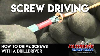 Video How to drive screws with a drill/driver MP3, 3GP, MP4, WEBM, AVI, FLV November 2017