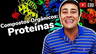 ✅ Estude no BIOLOGIA TOTAL: http://www.biologiatotal.com.br★ INSTAGRAM: http://instagram.com/paulojubilut/★ FACEBOOK: http://www.facebook.com/biologiajubilut★ TWITTER: http://twitter.com/Prof_JubilutNeste vídeo o Prof. Paulo Jubilut explica a importância das proteínas nos seres vivos.  São abordados temas como a estrutura, os tipos e as funções destes compostos orgânicos.