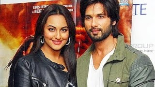 Shahid Kapoor & Sonakshi Sinha promoting 'R...Rajkumar' in Delhi
