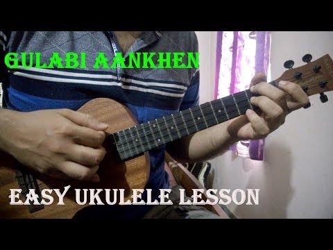 Video Gulabi Aankhen - Ukulele Intro & Chords | Easy Beginners Lesson download in MP3, 3GP, MP4, WEBM, AVI, FLV January 2017