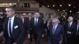 Llegada de S.M. el Rey al Consejo de Europa y encuentro con D. Pedro Agramunt